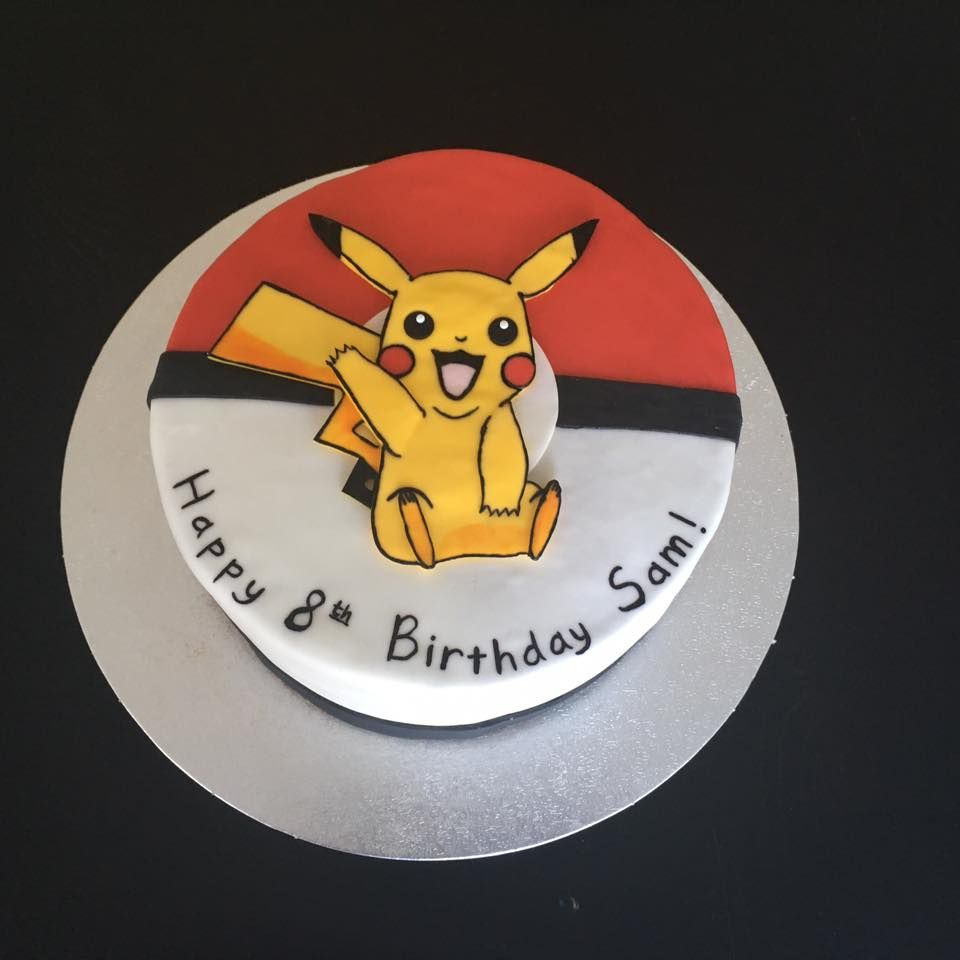 Pikachu Cake: Chocolate cake with Chocolate Ganache