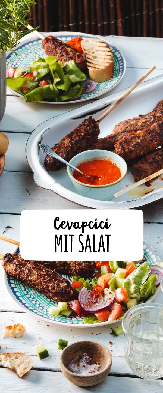 Cevapcici Mit Salat Rezept In 2018 Kochrezepte Food Croatian