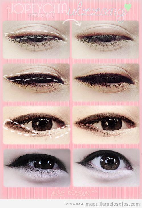 Tutorial paso a paso para maquillaje los ojos estilo for Pintarse los ojos facil
