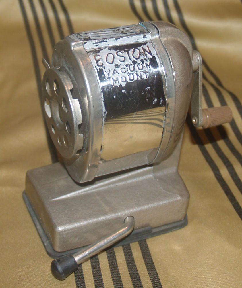 Boston art deco pencil sharpener vaccum mount 8 size