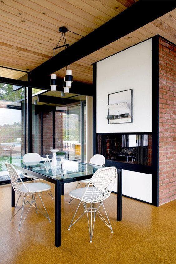 7 Beautiful Rooms With Cork Floors Japansk Interior Stue Og