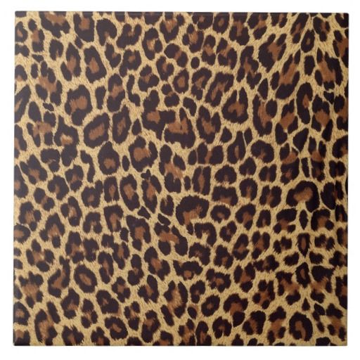 Photo of Leopard Print Ceramic Tile | Zazzle.com
