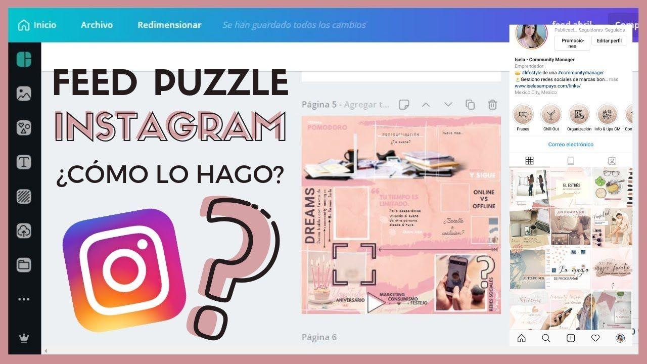 Cómo Hacer Un Feed Puzzle O Feed Rompecabezas Para Instagram Consejos De Blog Instagram Puzzles