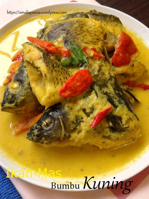 Ikan Mas Bumbu Kuning Resep Ikan Mas Resep Ikan Makanan Dan Minuman