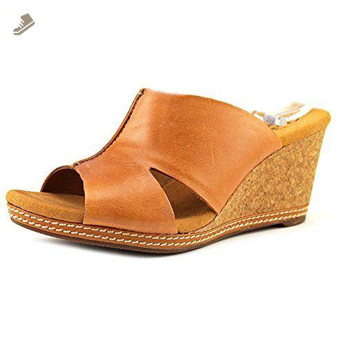 2aa70900a72 Clarks Narrative Hello Island Women US 6.5 W Tan Wedge Sandal ...