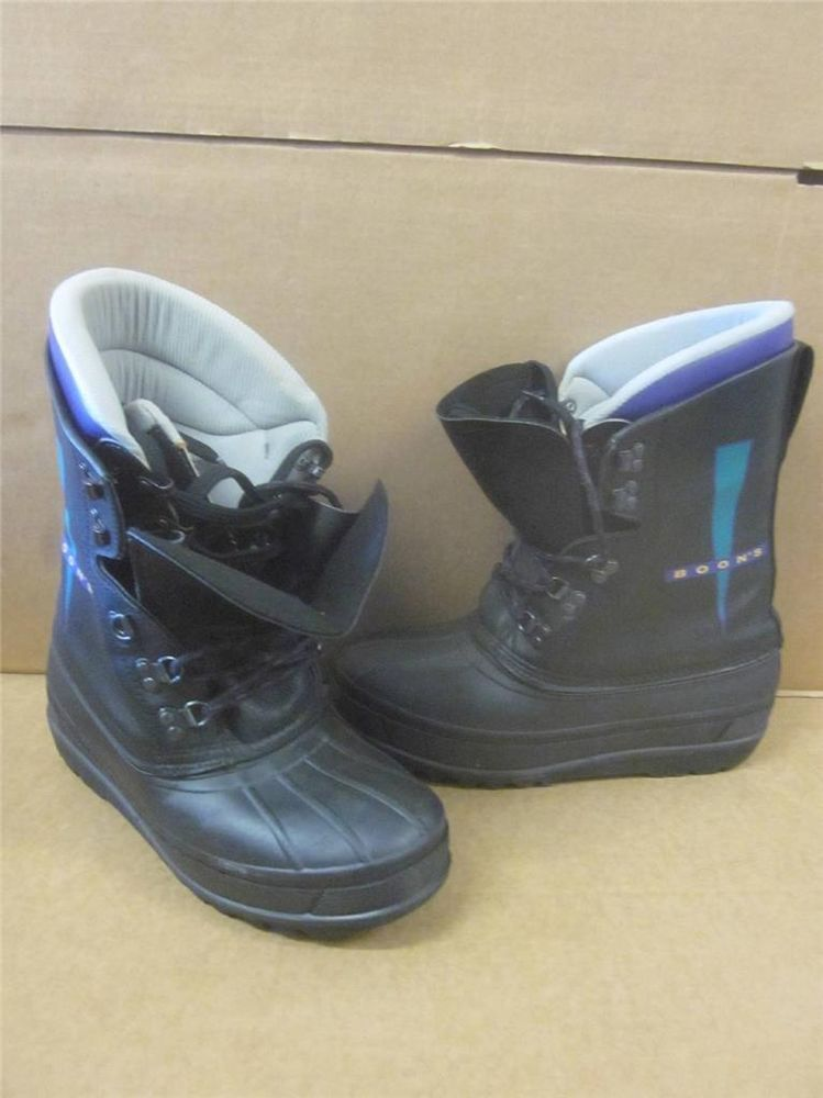 BOON'S Winter Snow Boots Black~Mens Sz 10.5~ VERY GOOD CONDITION ...