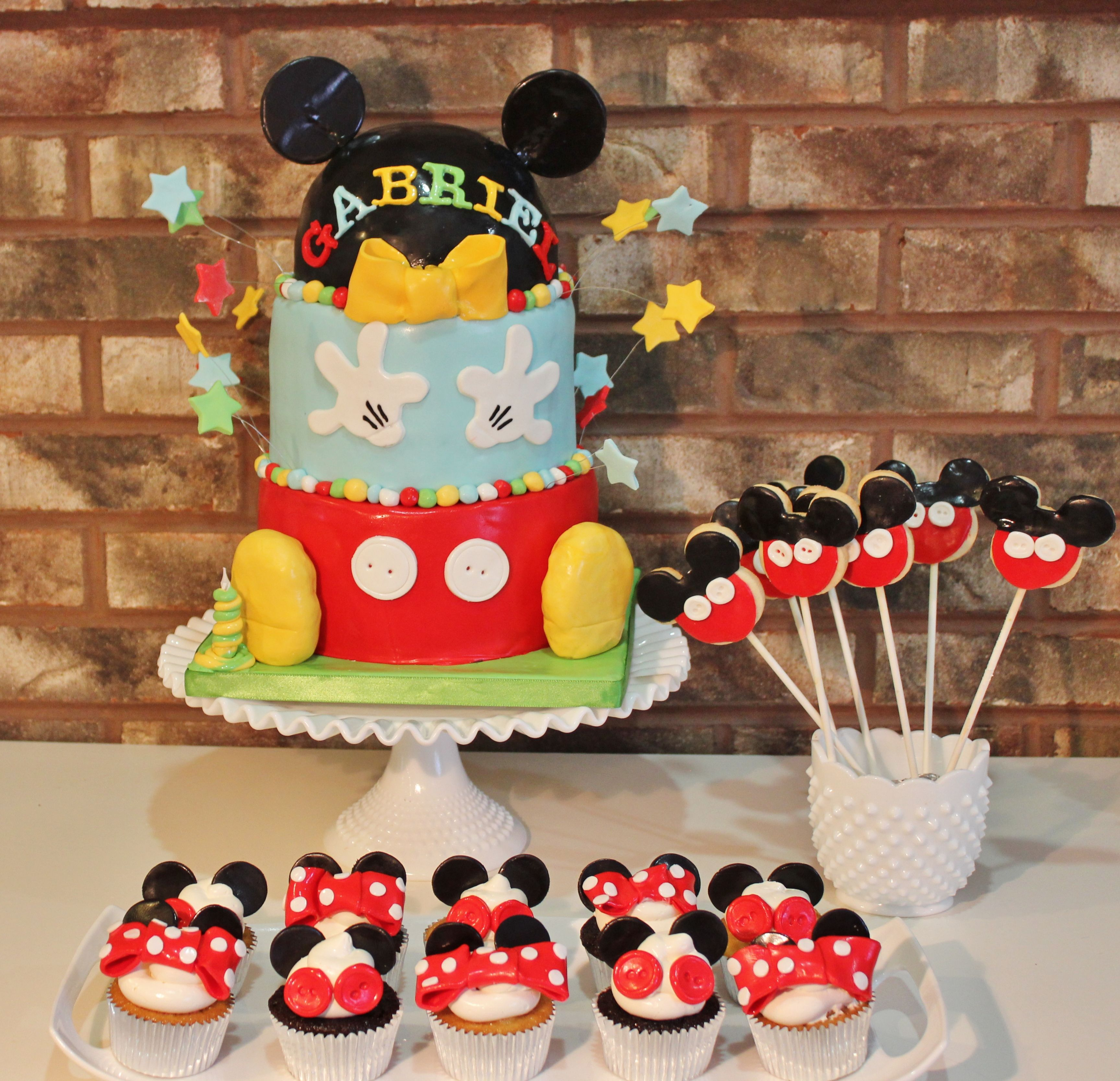 Mickey Mouse Inspired Dessert Table
