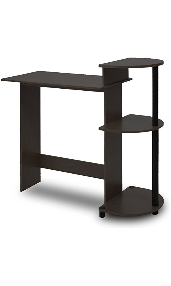 Furinno 11181EX/BK Compact Computer Desk, Espresso/Black Best Price