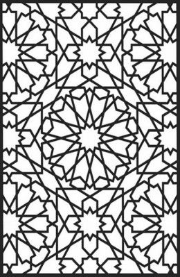 Geometric Design Colouring Pictures Stained Glass Colouring Pages Geometric Art Designs Coloring Books Islamic Art Pattern