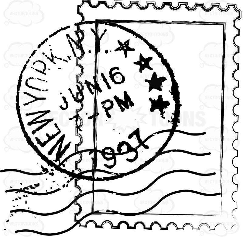 New York NY NYC Delivery US Mail Rubber Stamp Sent Air Cancellation