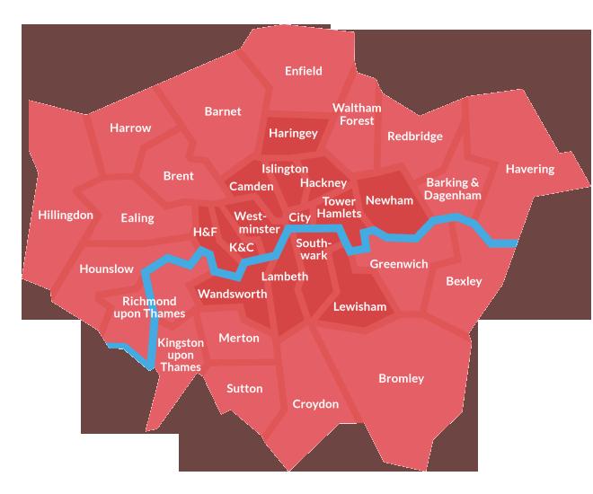 rat pest control london in 2020 London boroughs, Map, London