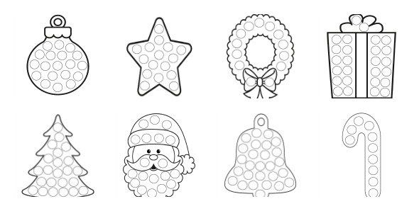 More Christmas Dot Painting Free Printables Dot Painting Christmas Art For Kids Mess Free Painting