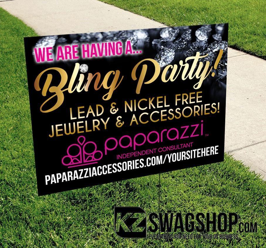 Paparazzi Yard Sign Set Of 2 Bling Party Jewelry Paparazzi