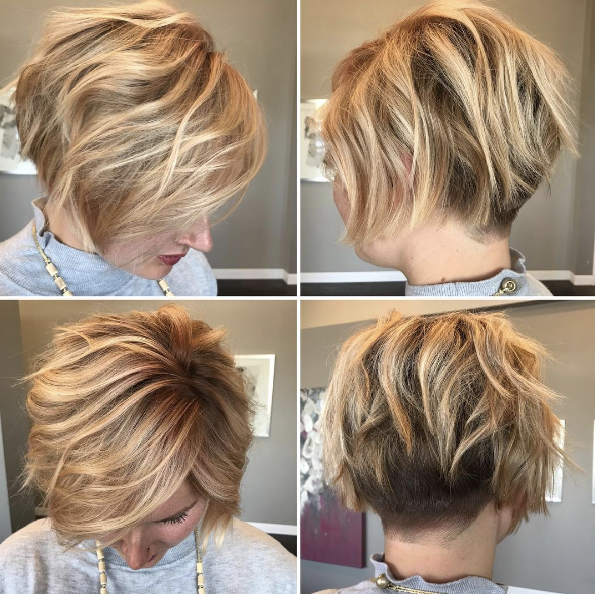 Short Bob Love The Tapered Back Haircut For Thick Hair Fine Hair Short Hairstyles Fine