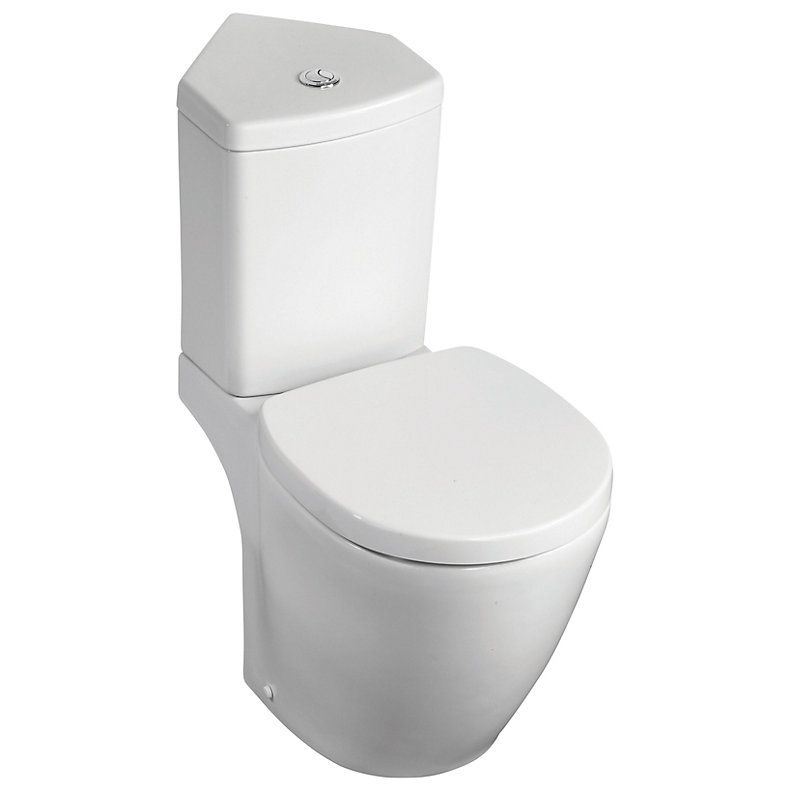 Ideal Standard Imagine Compact Contemporary Close Coupled Corner Toilet With Soft Close Seat Corner Toilet Toilet Attic Master Bedroom