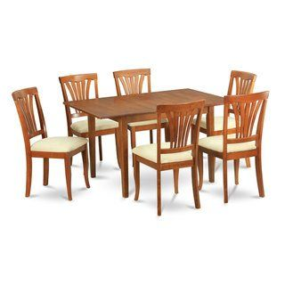 7 Piece Dinette Set For Small Es Kitchen Table And 6 Chairs Microfiber