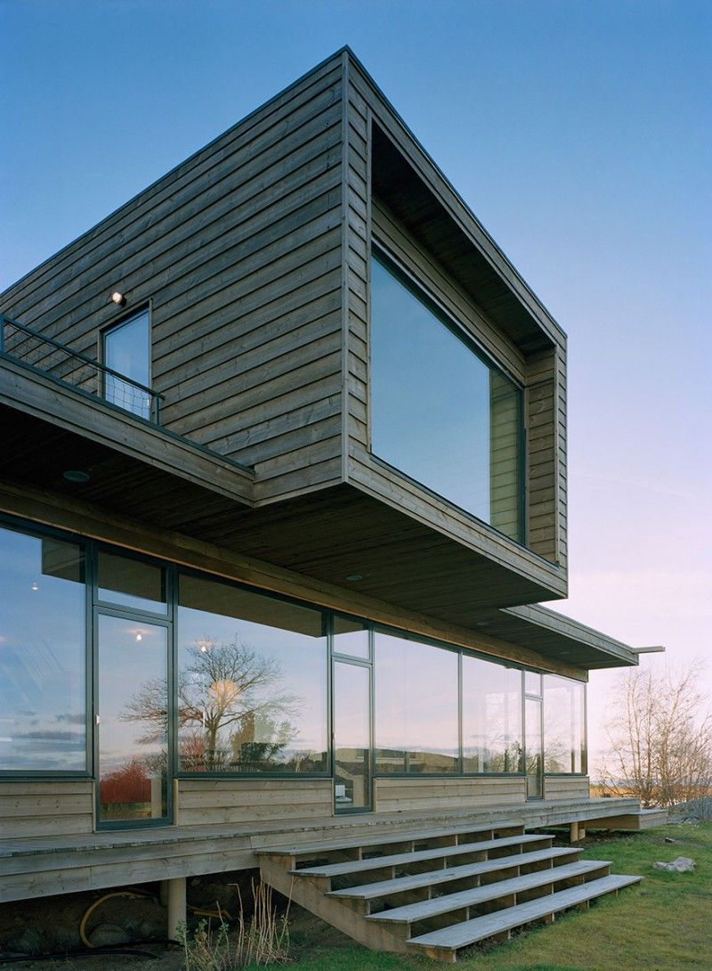 Architecture, Amazing House Design With Eco Friendly Concept With  Combination Of Hardwood Wall And Floor