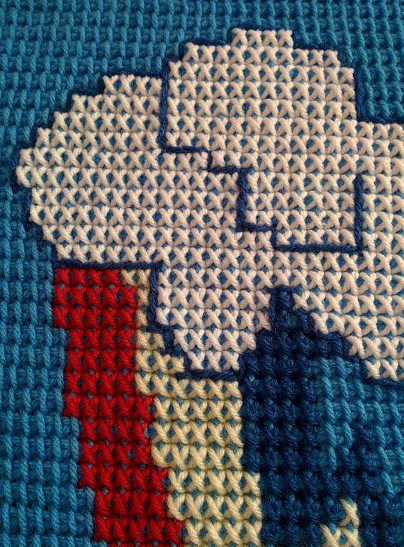 Rainbow Dash Cutie Mark Crochet Car-Seat Blanket 100% Acrylic Yarn ...