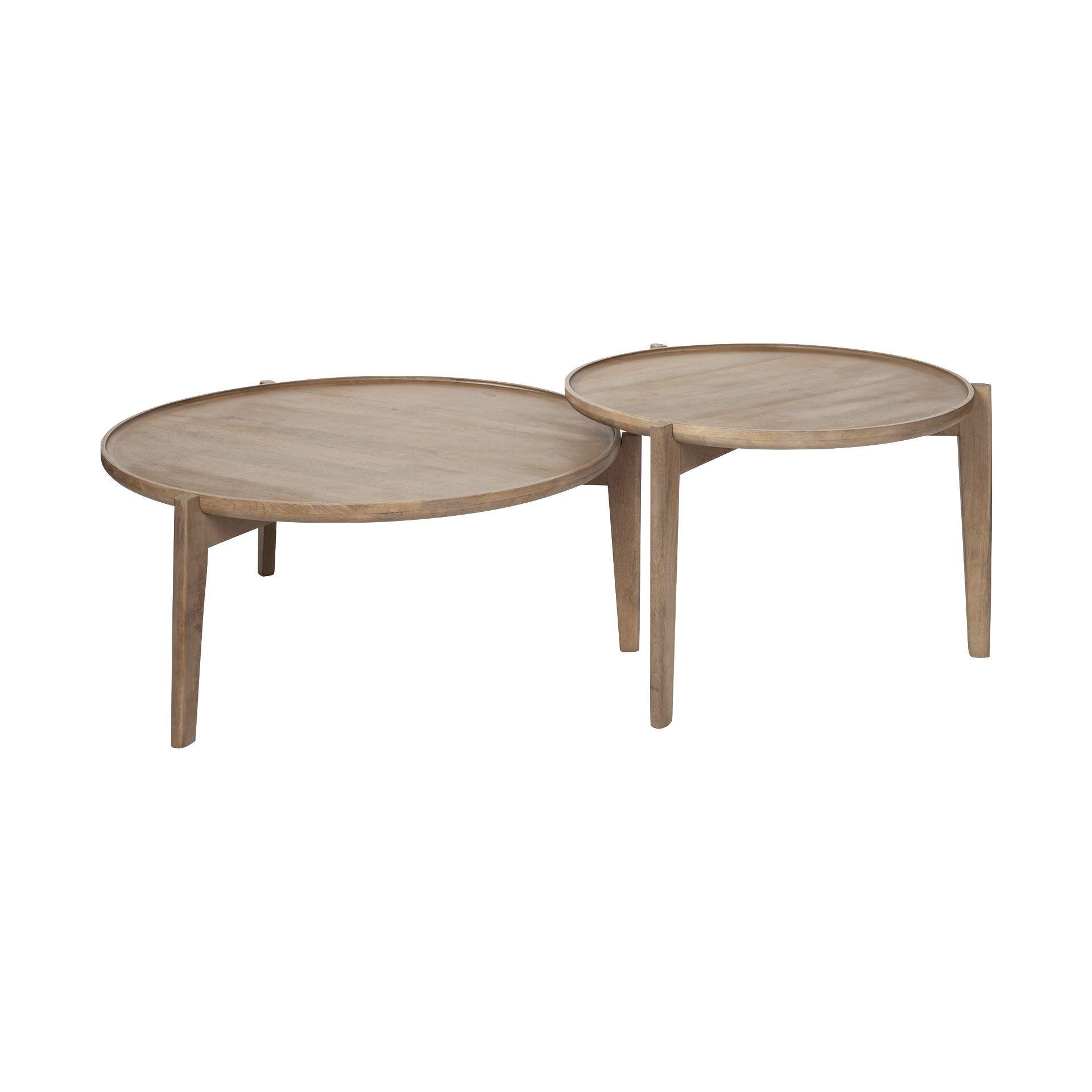 French Set Of Two Round Coffee Tables Mesa De Centro Redonda Branca Mesa Redonda De Vidro Mesas De Centro Quadradas [ 2000 x 2000 Pixel ]