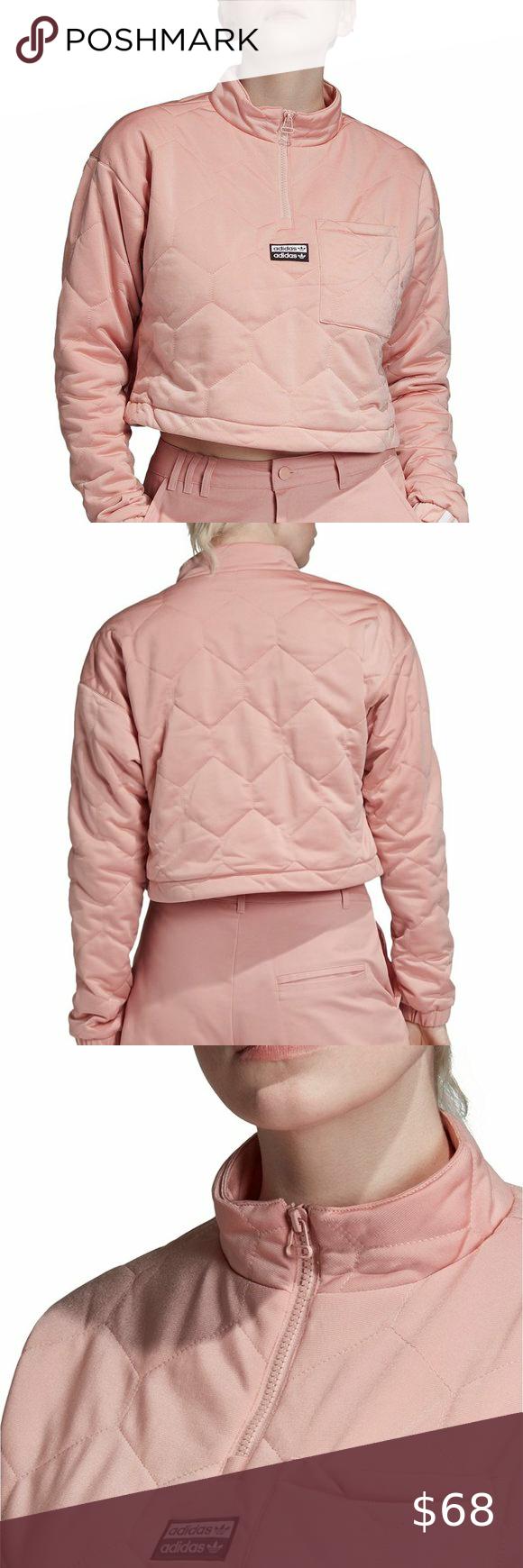 Adidas Quilted Half Zip Cropped Sweatshirt Adidas Crop Sweater Adidas Crop Crop Sweatshirt [ 1740 x 580 Pixel ]