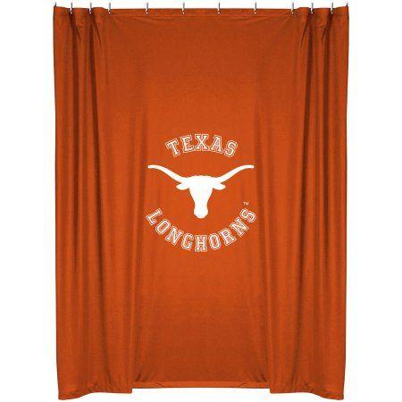 Sports Outdoors Fabric Shower Curtains Texas Longhorns Ut