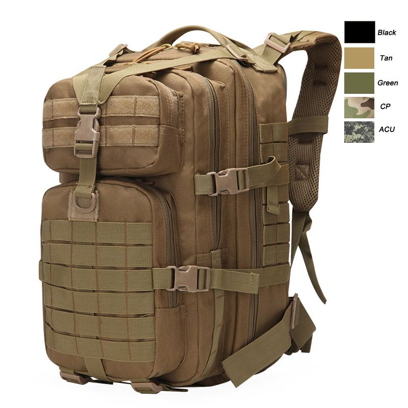 45L Military Tactical Backpack Large Army 3 Day Assault Pack Molle Bag BackpackF