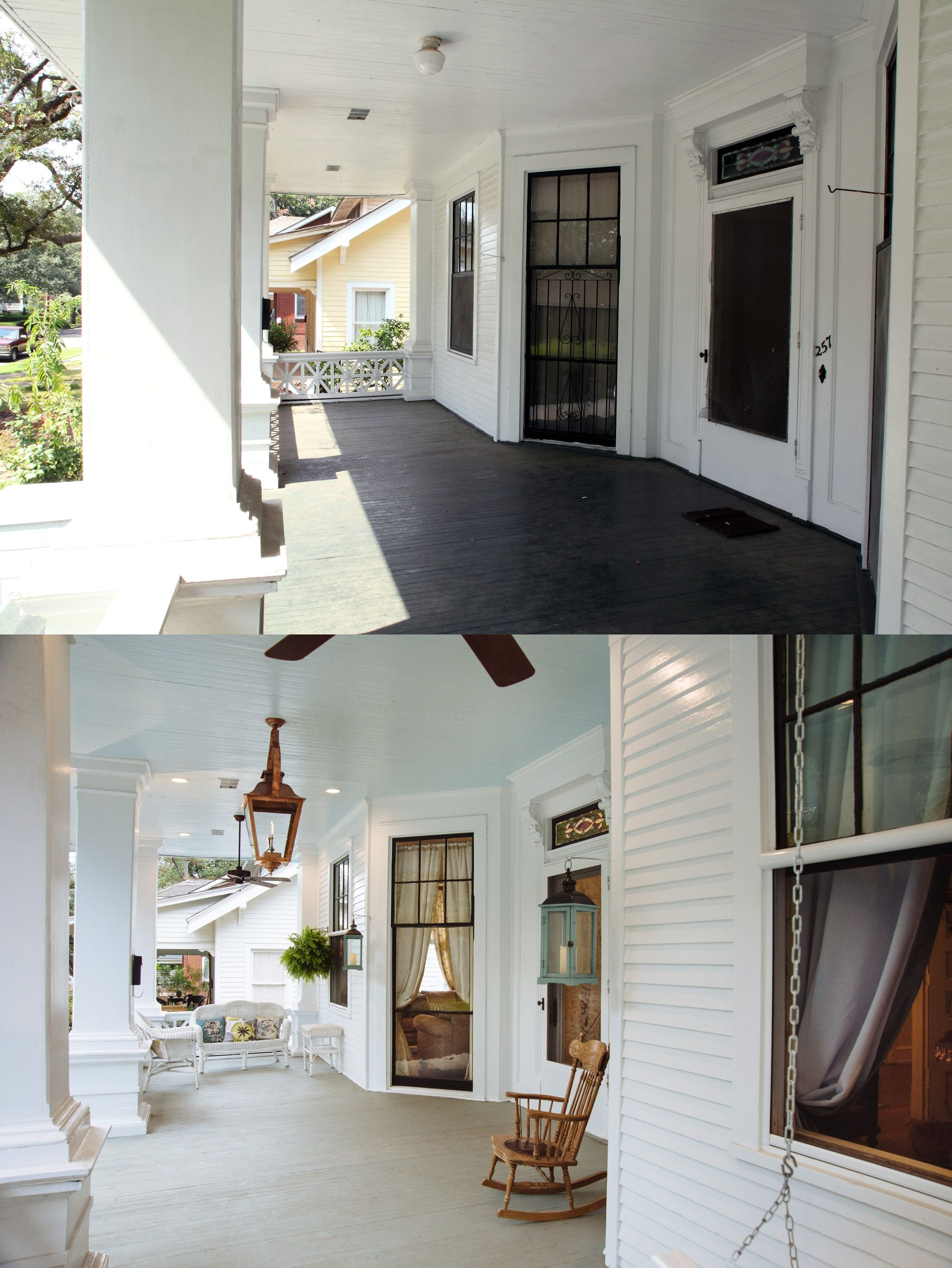 #Transformationtuesday  Front Porch Restoration On This 1906 Arts &