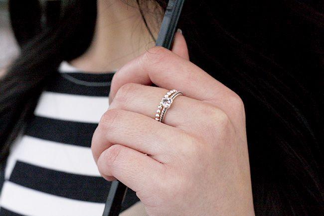 Instagram Beccaslookbook Pandora Rings And Striped Dress Pandora