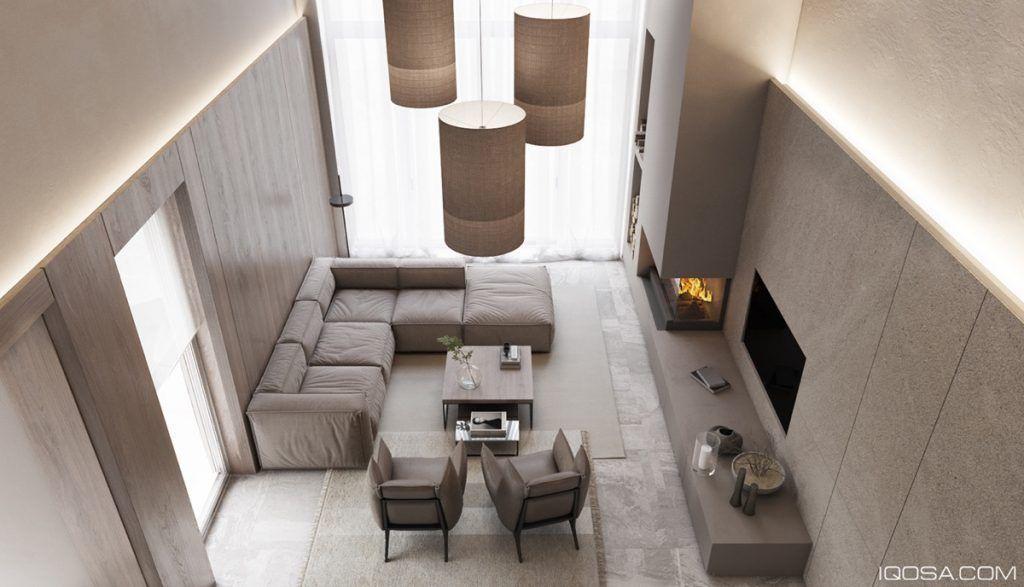 Home designing 2 luxury homes with beige focused interior design