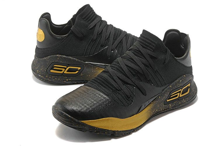 7a6429e8192 Cheapest And Latest New Under Armour UA Curry 4 VI Low Black Gold ...