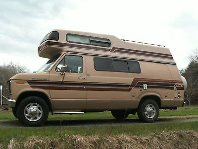1986 FORD E250 FALCON High Top Camper Van Class B SOLD IN AMERICA