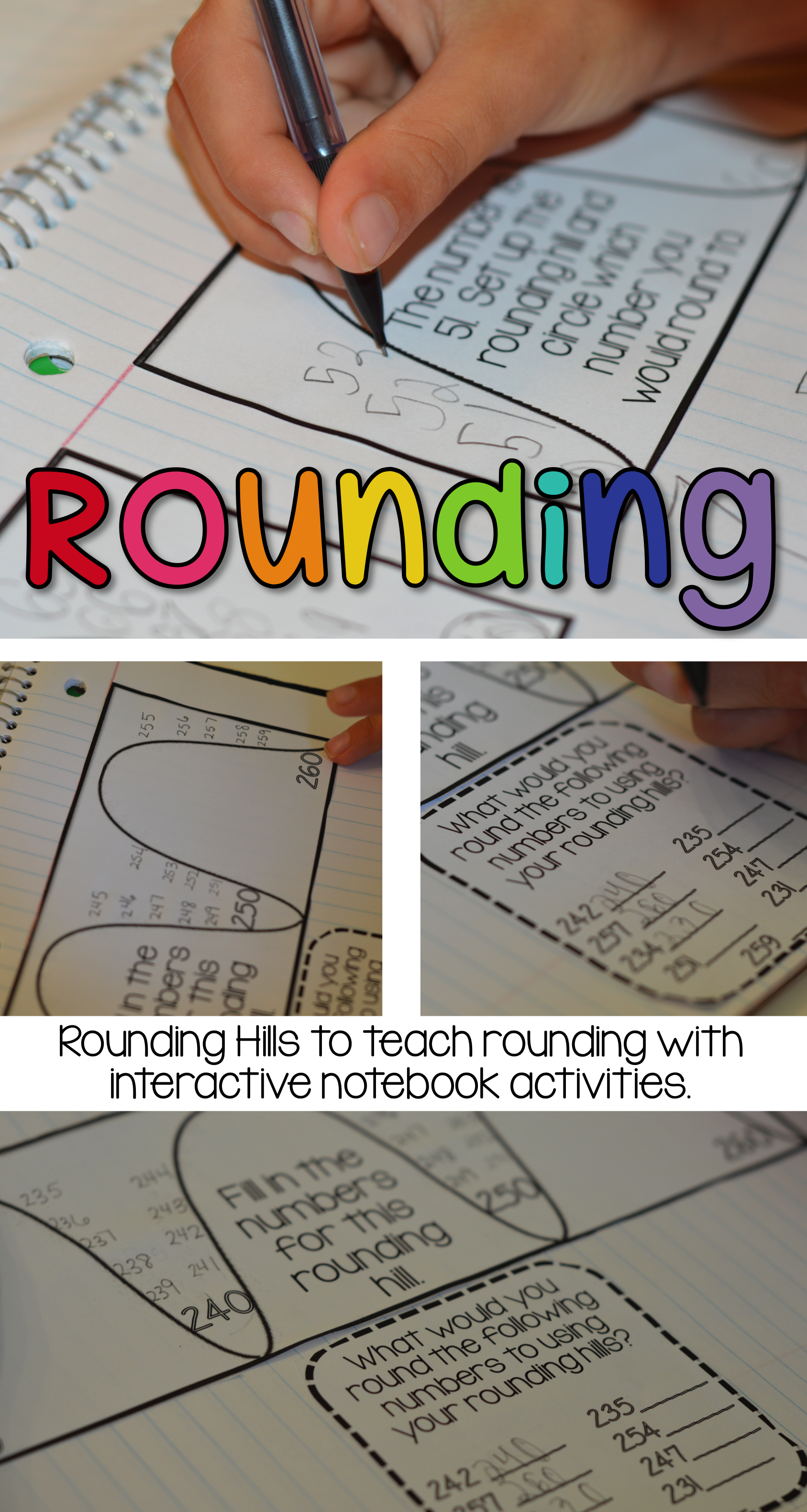 Rounding Interactive Math Journal Activities
