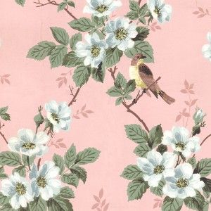 I Love Antique Wallpaper Especially If It Has Birds And Flowers Vintage Flowers Wallpaper Vintage Wallpaper Wallpapers Vintage