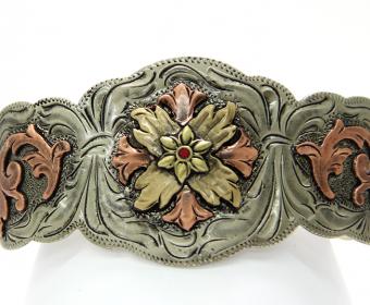 Augus Silversmiths Flower Cuff [AC136]