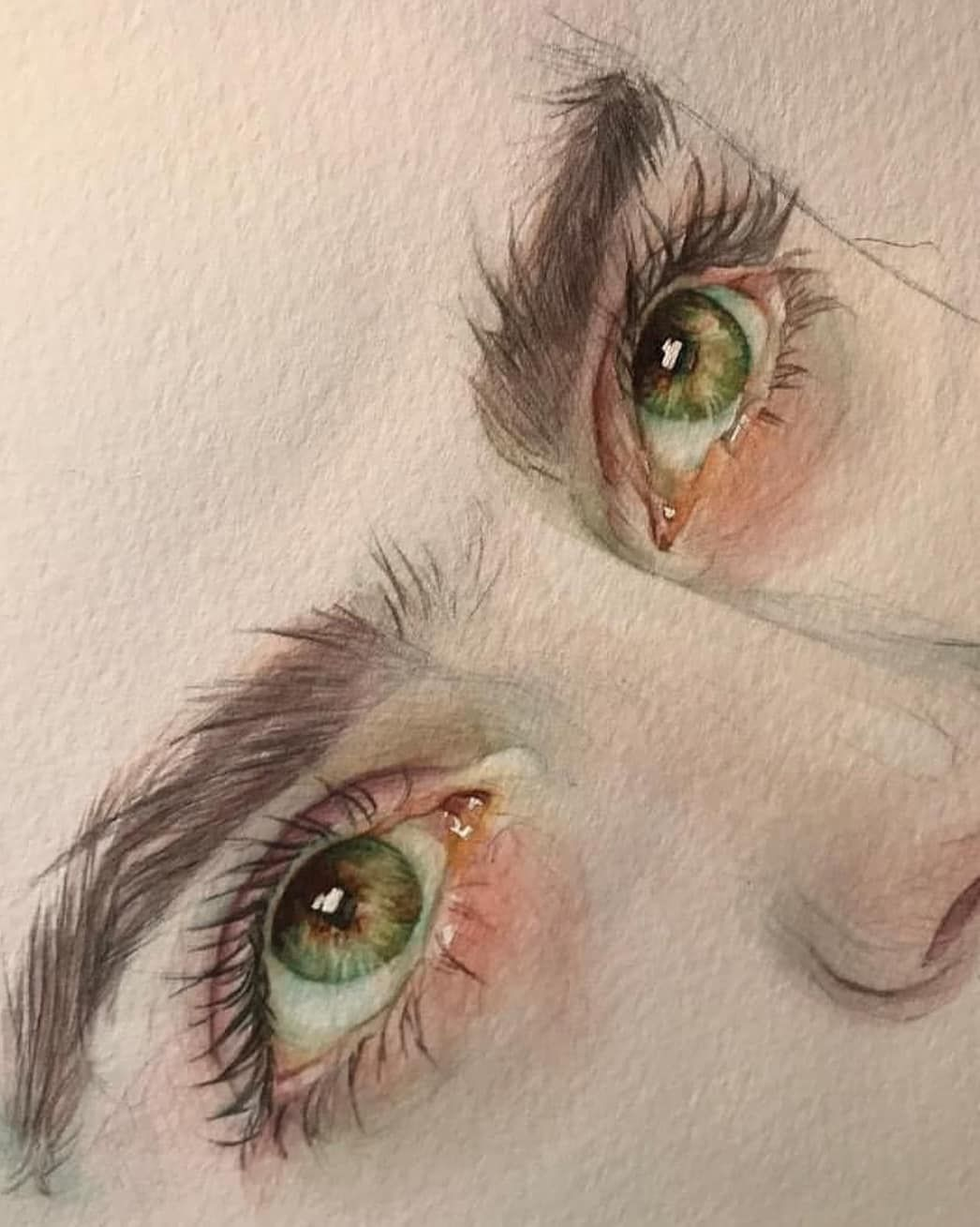 Drawing Eyes Prismacolor pencils