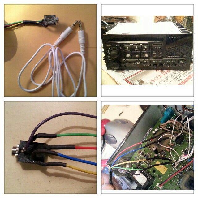 19992003 gm CD radio adding AUX plug so I can plug my