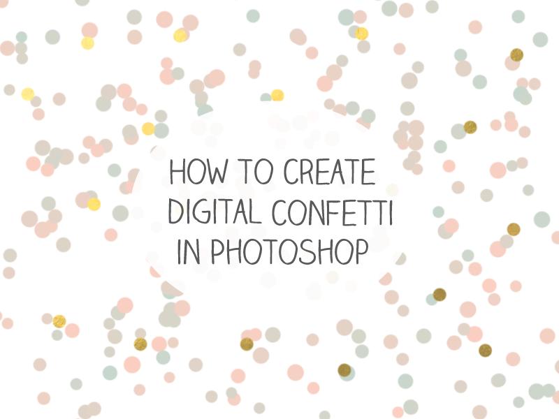Create a Confetti Brush in Adobe Photoshop | Best Adobe photoshop ...