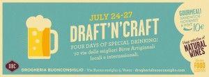 Draft'n'craft il mini #festival delle #birreartigianali ideato dalla #DrogheriaBuonconsiglio di #Vasto durante il #SirenFestival