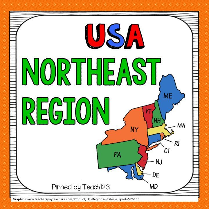 Usa S Northeast Region Information About The States
