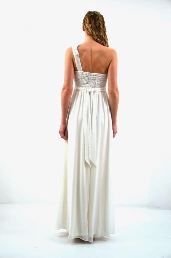 2804d747121 Φόρεμα μακρύ με ένα ώμο | Μακρύ Φόρεμα | Νυφικά, Νυφικά φορέματα και ...