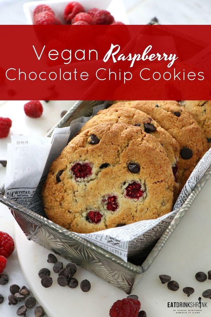 Vegan Almond Flour Raspberry Chocolate Chip Cookies Recipe