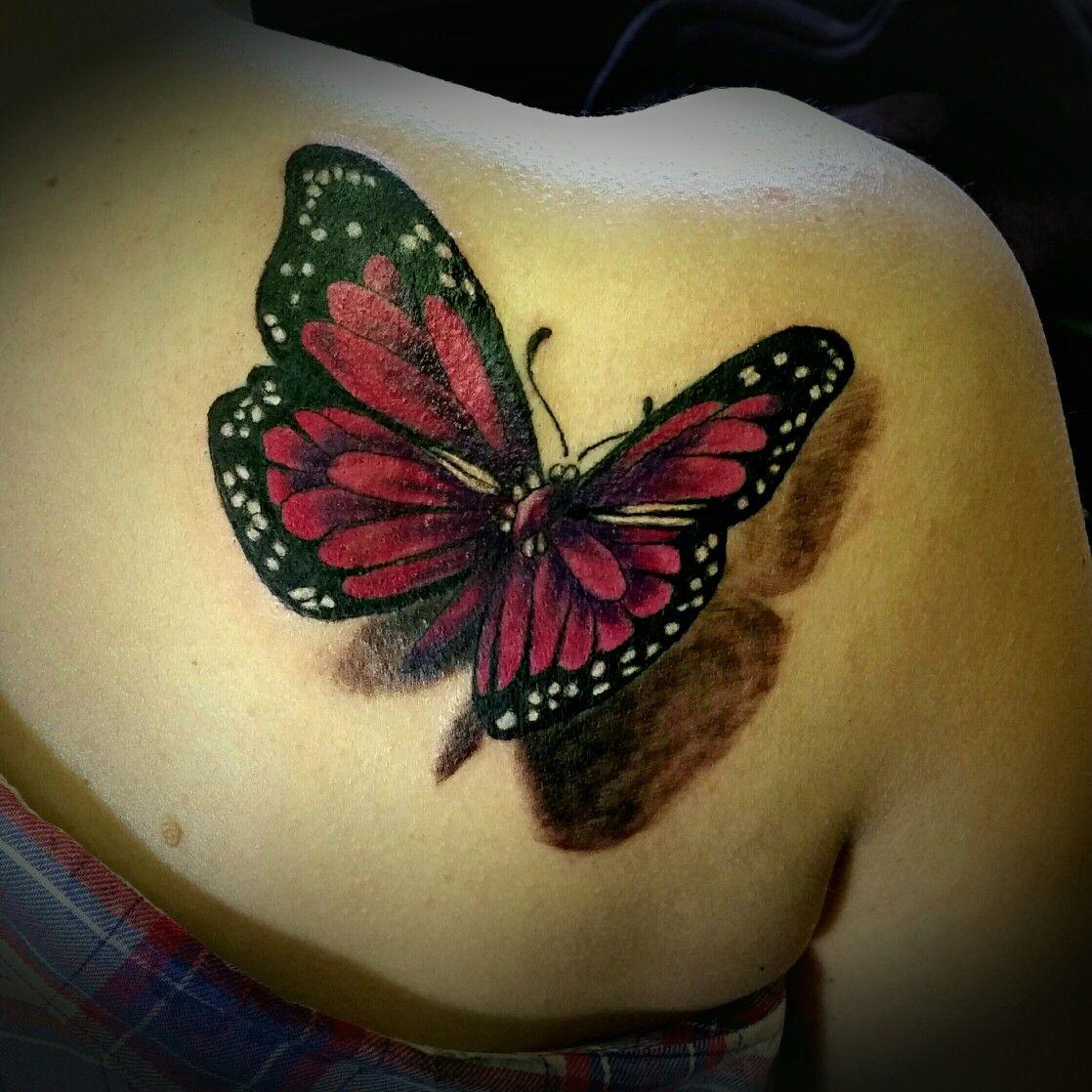 Butterfly 3d Tattoos for women flowers, Butterfly tattoo
