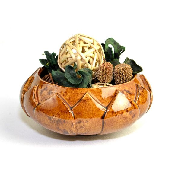 Native American Indian Plant Holder House Warming Gift Vintage Ceramic Planter