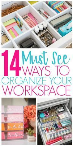 14 Desk Organization Hacks to Improve Your Productivity - Organization Obsessed -   19 diy Organization desk ideas