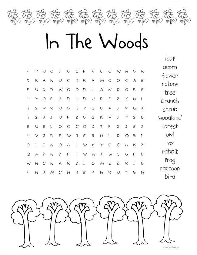 in the woods word search puzzle printables free printables free word search word search. Black Bedroom Furniture Sets. Home Design Ideas