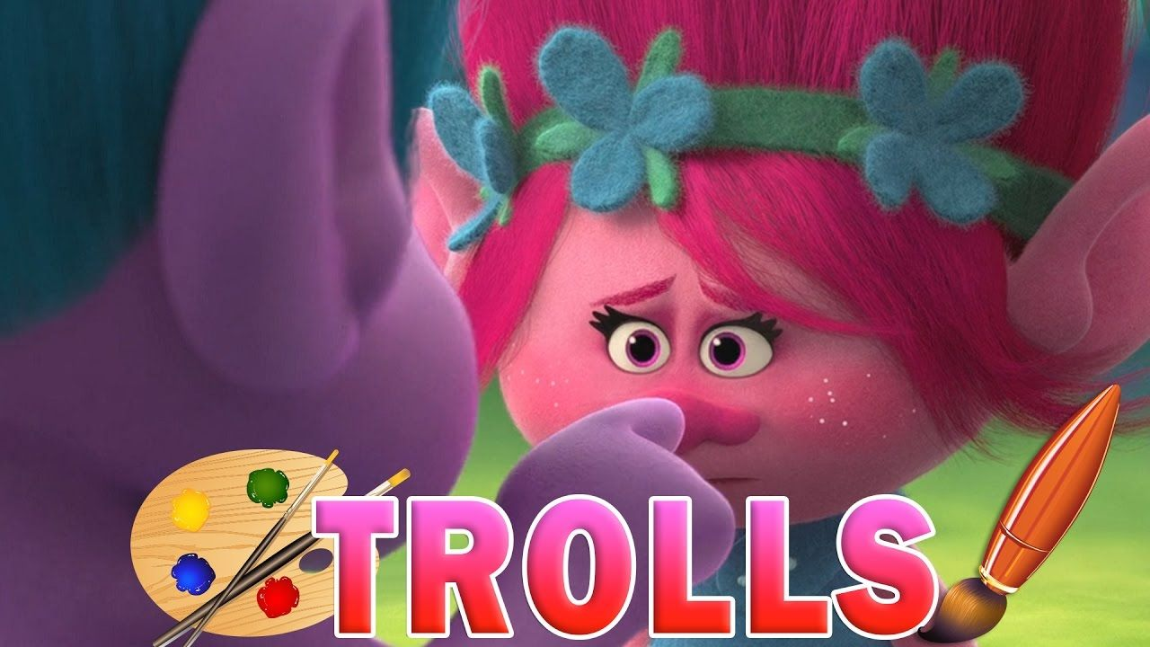 Coloring Pages Trolls : Trolls movie poppy and creek kids coloring book coloring pages