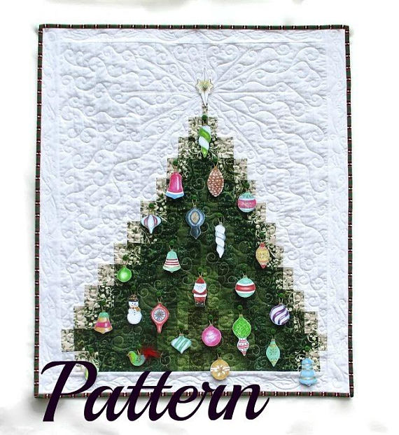 Pattern For Christmas Tree Advent Calendar Quilted Bargello Wall Hanging Includes Printed Christmas Tree Quilt Christmas Tree Advent Calendar Christmas Quilts