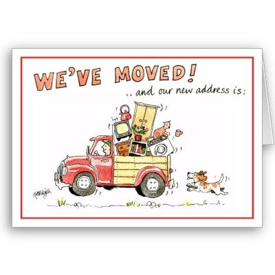 We Ve Moved Greeting Card And Our New Address Is Zazzle Co Uk Greeting Cards Email Christmas Cards Christmas Cards Free