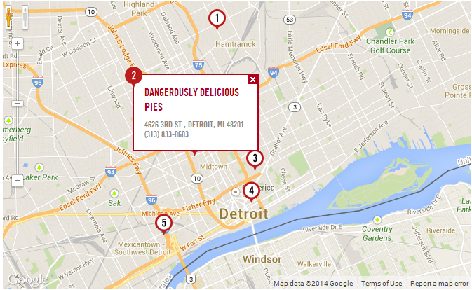 Where To Find Detroit\'s Best Pastries | Custom Google Maps | Custom ...