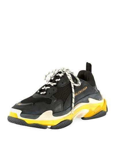 a66c7cd275be Balenciaga Men s Triple S Mesh   Leather Sneakers